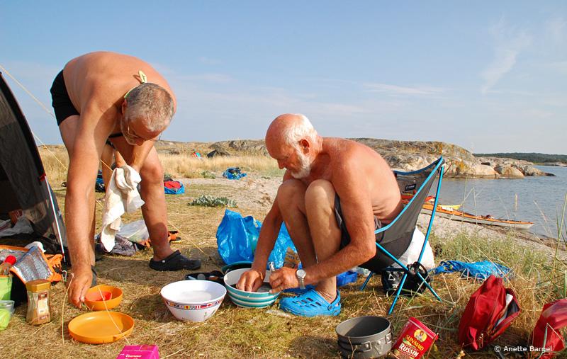 Lägerliv paddling bohuslän. Foto: Anette Bargel