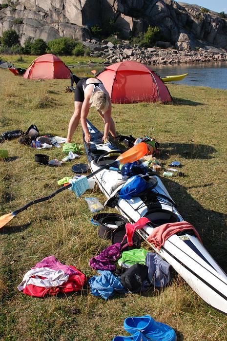 Paddling sortera packning bohuslän