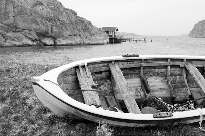 Strandad båt heestrand