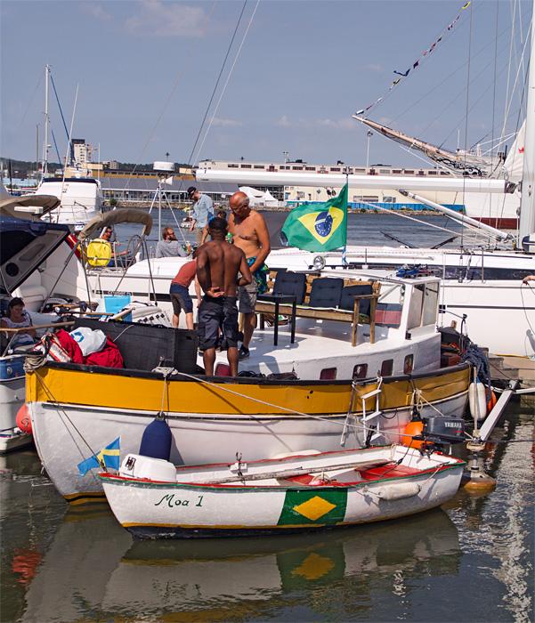 fritidsbåt från brasilien, atlantic crossing